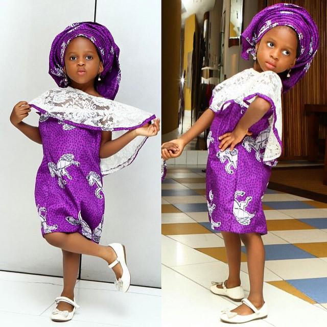 girl in purple silk lace