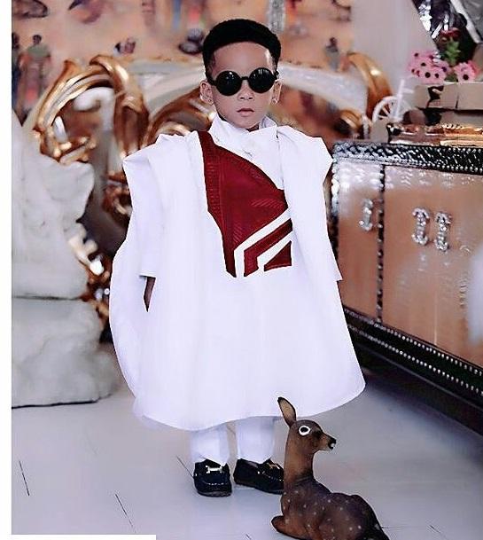 boy in shades wearing agbada