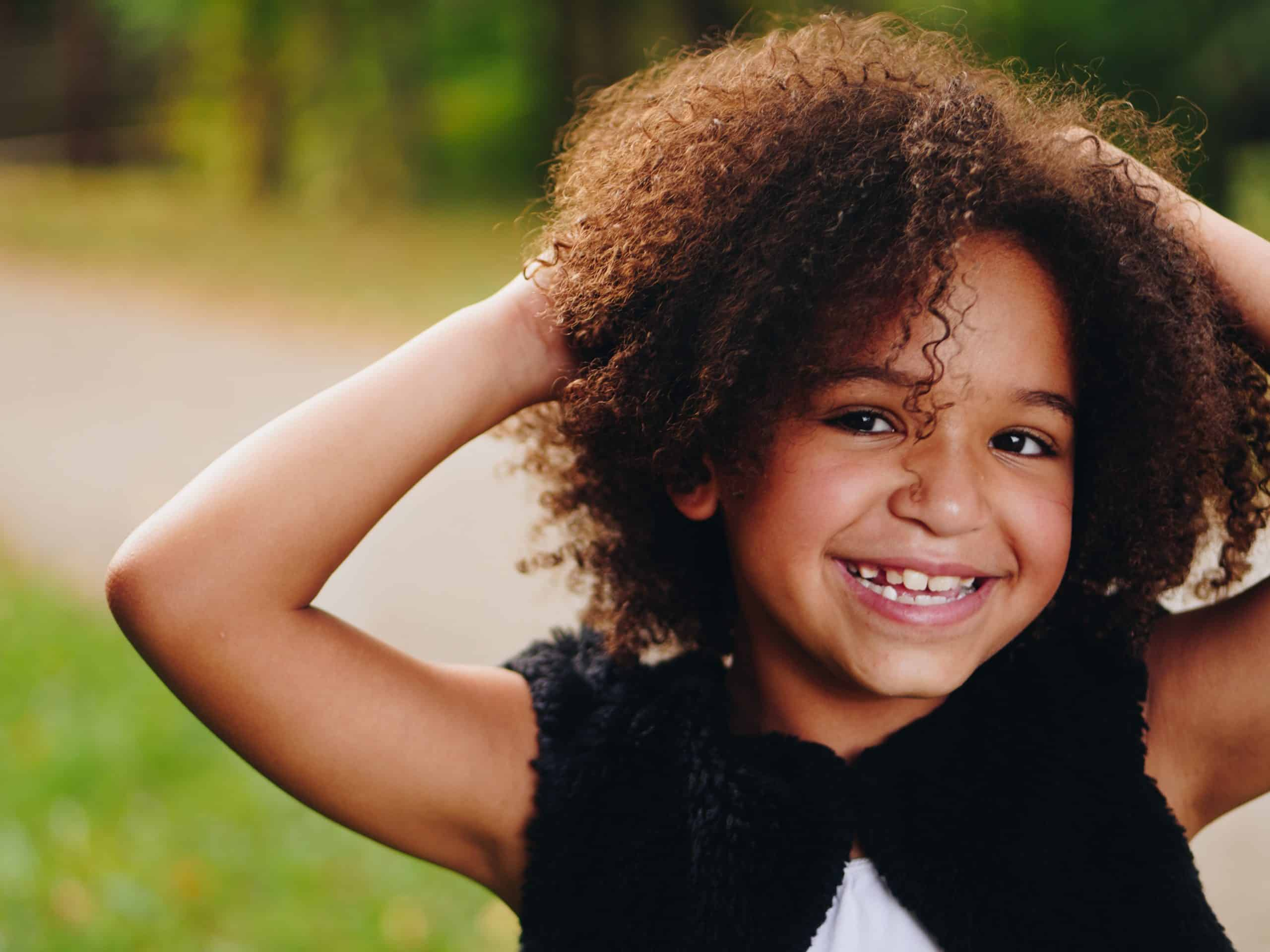 Natural kids hairstyles